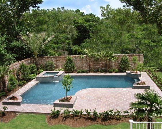 Inground pools designed for backyard living residential gallery awesome inground pool - Backyard inground pool designs ...
