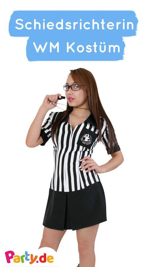 Schiedsrichter Lady Damenkostum We Wm Fussball Partys