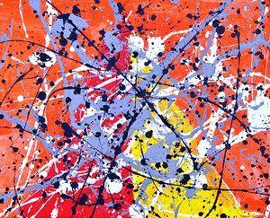Splatter Paintings - Pollock Style