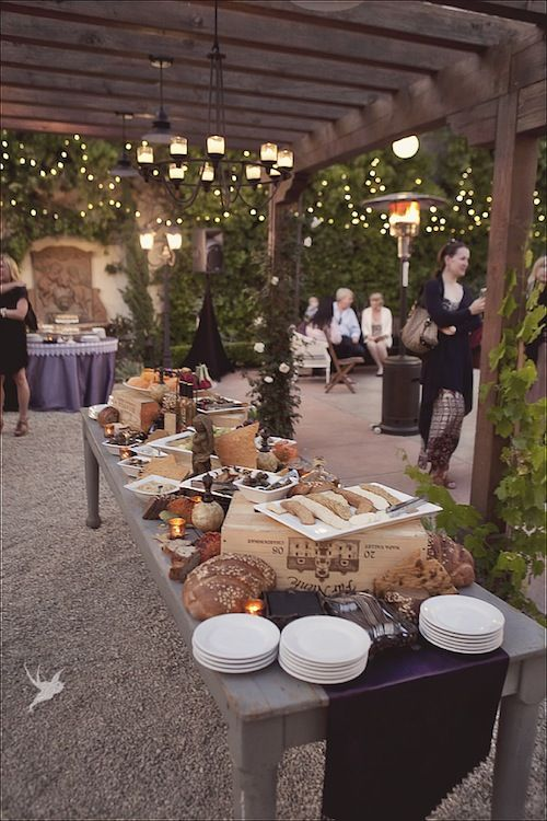 Masculine tables male party inspiration food tables for Extra long farmhouse table