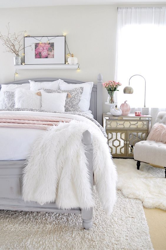 Pink And Silver Woman Bedroom Glam Bedroom Decor Remodel Bedroom