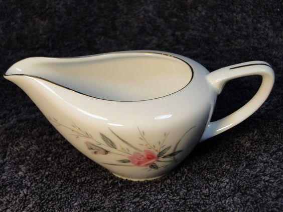 $15.99 Fine China of Japan Golden Rose Creamer & Sugar Bowl w/Lid - MINT! #FineChinaofJapan