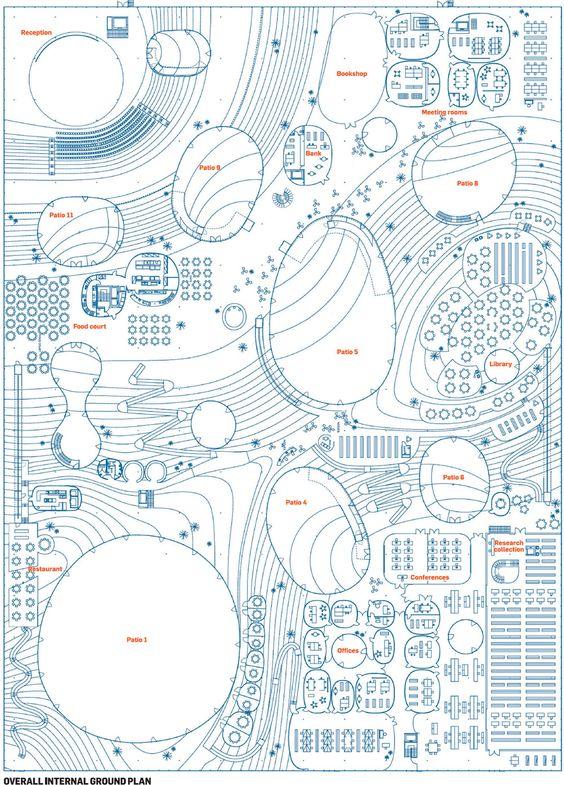 Rolex Learning Centre (Upper Floor Plan) http://www.bdonline.co.uk/Journals/Graphic/s/u/d/overallinternal.jpg