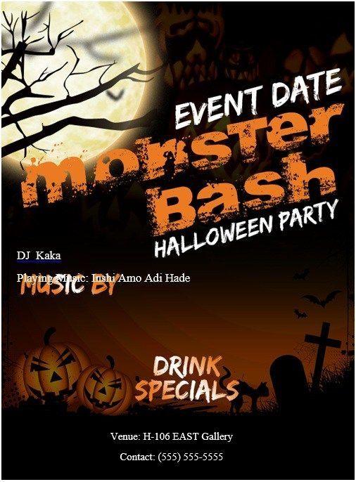 Halloween Flyer Templates Microsoft Halloween Party Flyer Halloween Office Party Halloween Party Halloween invitation templates microsoft word