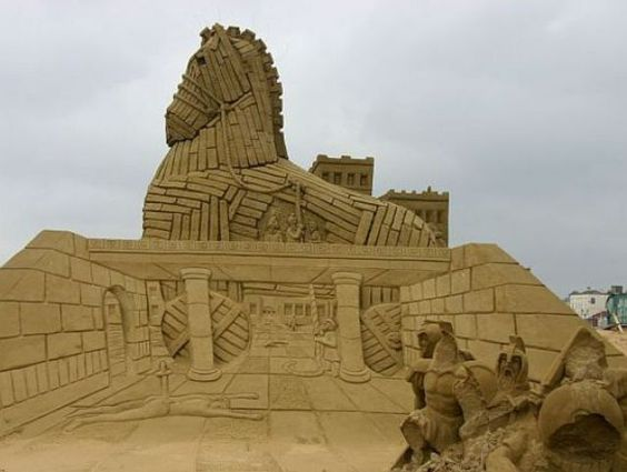 Amazing sand sculptures (92 photos) - Xaxor