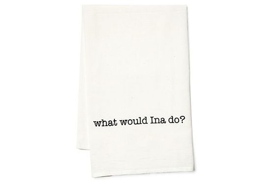"""What Would Ina Do"" tea towel"