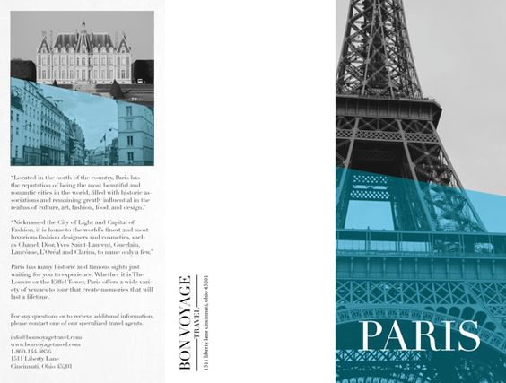 Paris Travel Brochure by Ana Campbell, via Behance Brochure - travel brochure