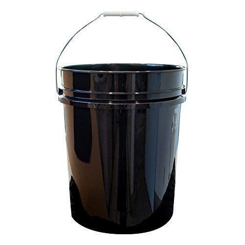 Argee Rg5500bk 10 Plastic Bucket 5 Gallon Black 10 Count Argee In 2020 Paint Pails Painting Plastic Pail