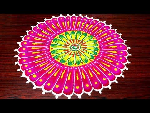 Innovative New Year Rangoli New Year Kolam Designs New Year Muggulu Youtube Rangoli Designs Beautiful Rangoli Designs Kolam Designs