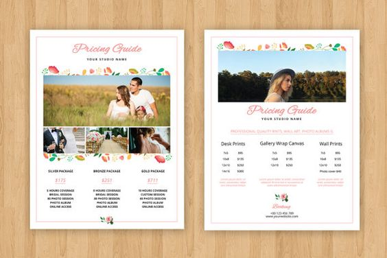 Wedding Photography Price list Template by TemplateStock on Etsy - price list template