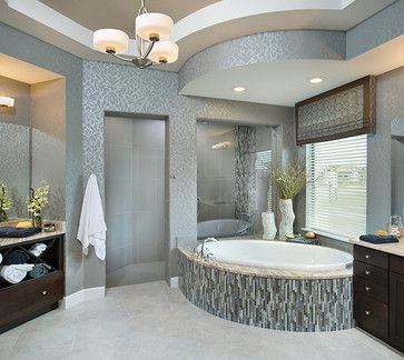 Pictures of model home bathrooms
