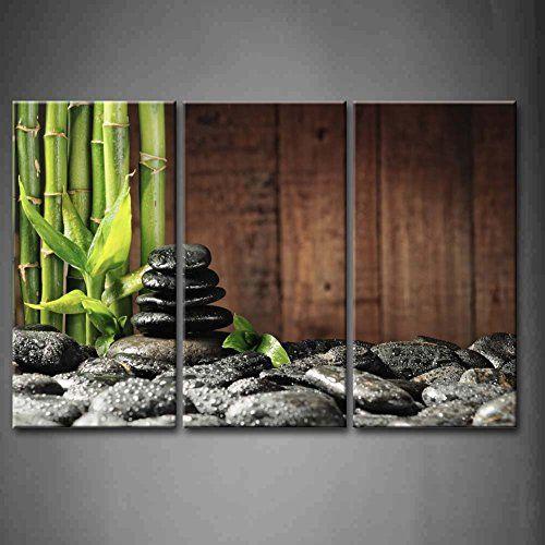 Bathroom Zen Art amazon - 3 panel wall art green spa concept bamboo grove and