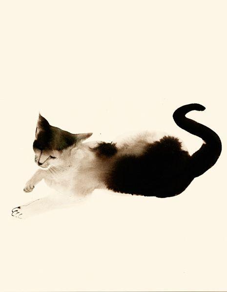 watercolour: Beautiful Cat, Kitty Cat, Cat Painting, Water Color, Watercolor Cat, Cat Illustration, Art Cat, Art Painting