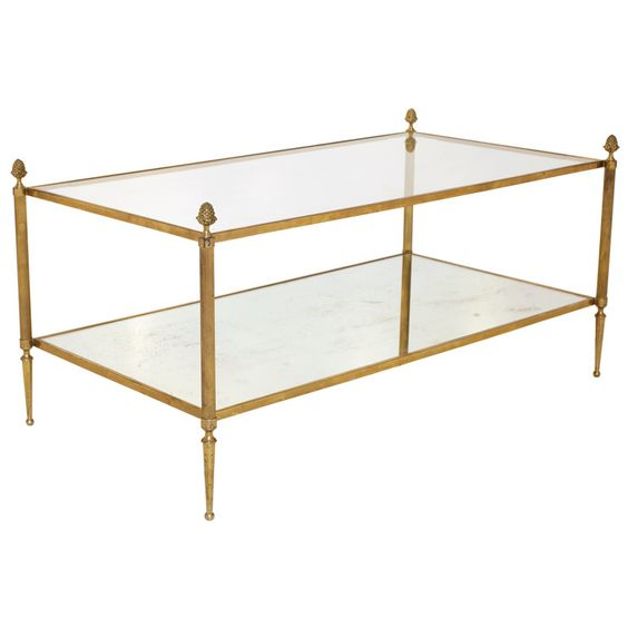 Brass Glass Coffee Table By Maison Bagues Beautiful Shelves And Cocktails