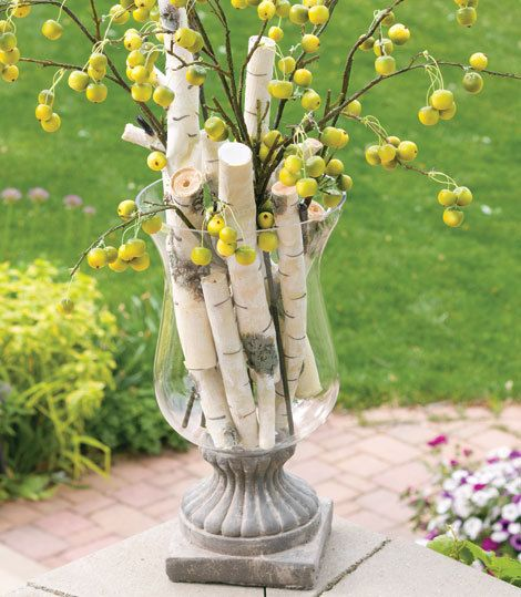Trees gray and natural on pinterest for Tree twigs decoration
