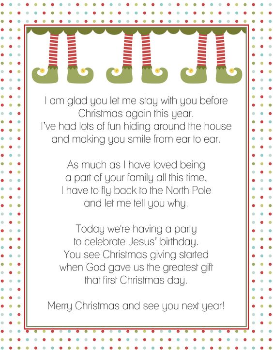Goodbye Letter From The Elf On A Shelf  Christmas