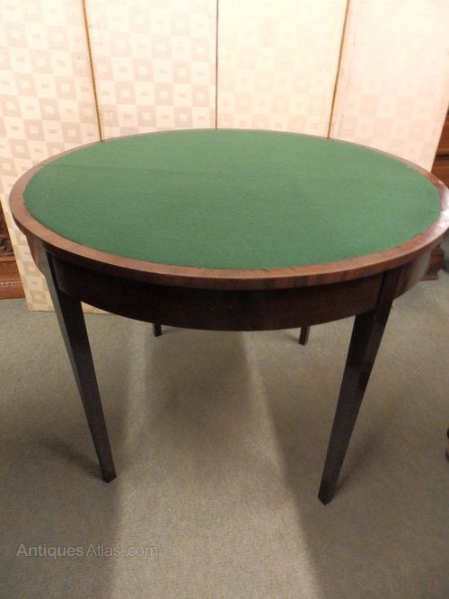 1800s Mahogany Fold Over Card Table Table Cards Table Table Games