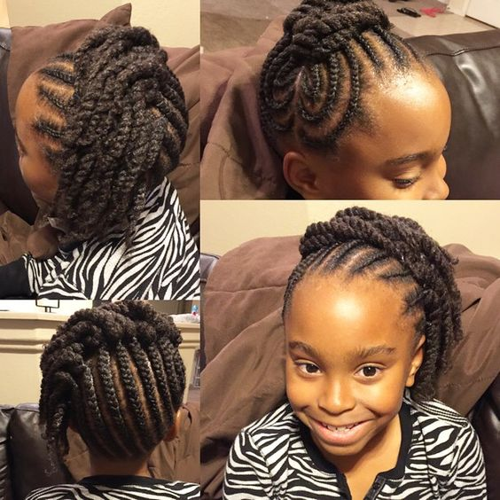 Wondrous Two Strand Twists French And Girls Braids On Pinterest Short Hairstyles For Black Women Fulllsitofus