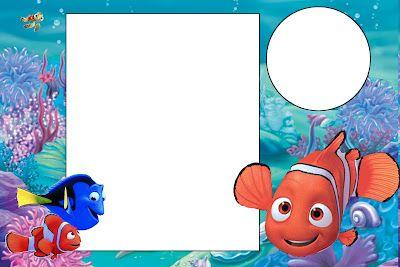 Nemo Kit Completo Com Molduras Para Convites Rotulos Para