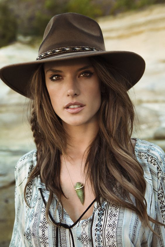 Alessandra Ambrosio: Just in time for Fall!  ále by Alessandra Roxy Dene Felt Hat