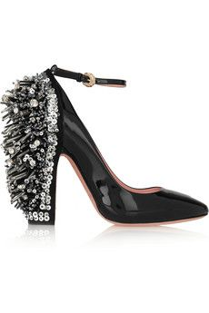 Rochas Embellished patent-leather Mary Jane pumps | NET-A-PORTER