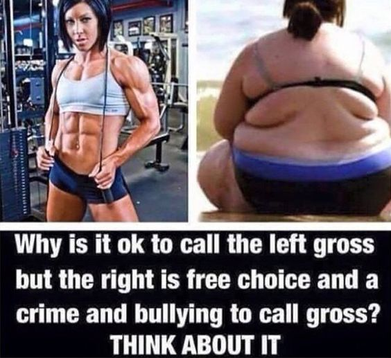 For the record... it is NOT ok to call either woman gross. I do believe however, that it is time to stop encouraging women to continue engaging in unhealthy lifestyles. Encouraging people to workout, eat clean and live at a healthy weight should not be considered 'fat shaming'. Both 'fat shaming' and 'fit shaming' must end.