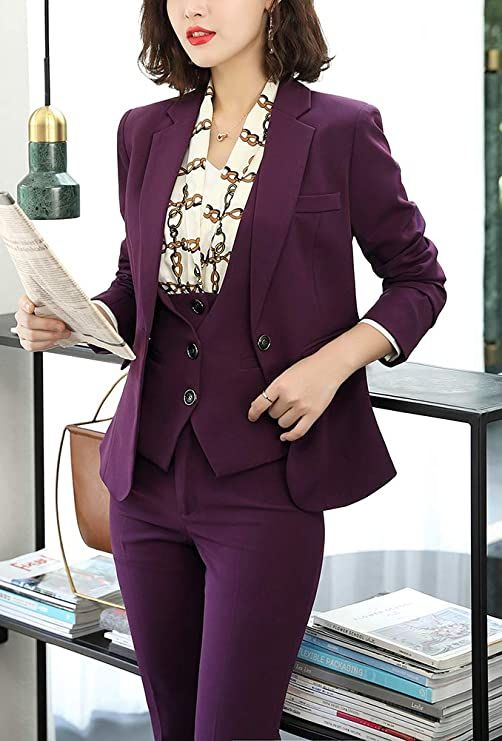Women's Three Pieces Office in 2020 | Suits for women, Blazers for women, Blazer jackets for women