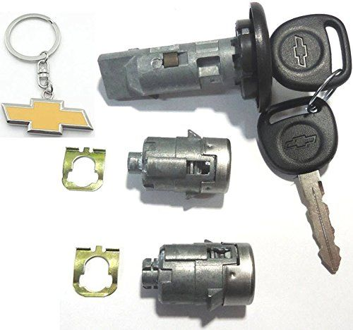 7012945 598007 Chevy Gm Ignition Door Lock Set Coded With Logo