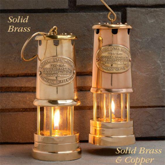 Beautiful Table-Top Oil Lamps by Garrett Wade