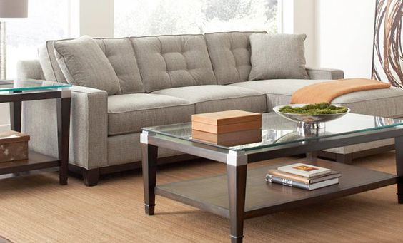 Sectional sofas gray and small living rooms on pinterest for Clarke fabric 2 piece sectional queen sleeper sofa bed