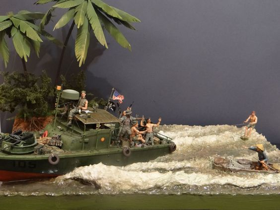 Vietnam Surfing 1/35 Scale Model Diorama