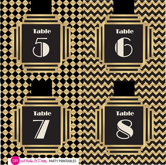 gatsby art deco inspired table numbers 1 par diyandmakeitpretty art deco inspired pinterest