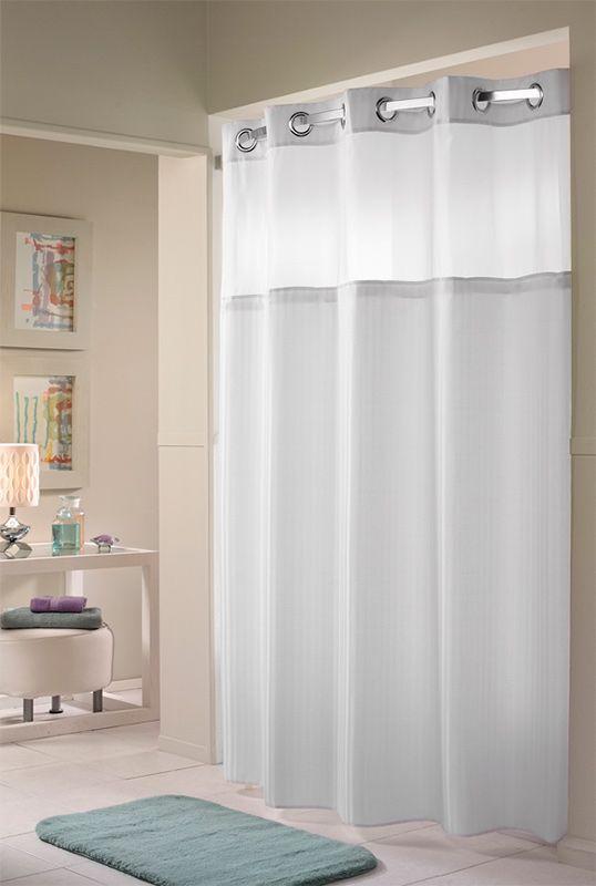 Hilton Herringbone Hookless Shower Curtain Hookless Shower