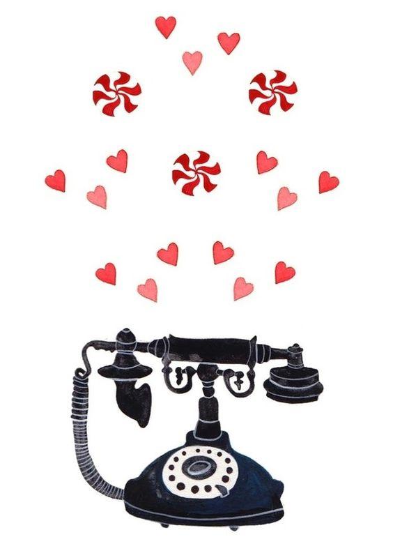 Gracias por el teléfono.   Illustrations by Rebekka Seale