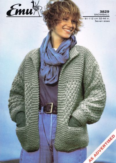 Knitting Patterns For Jackets Chunky : Coats, Emu and Cardigans on Pinterest