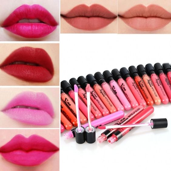 24 Colors/Set Beauty Makeup Cosmetic Matte Waterproof Lip Pencil Lipstick Lip Gloss Lip Pen Liquid