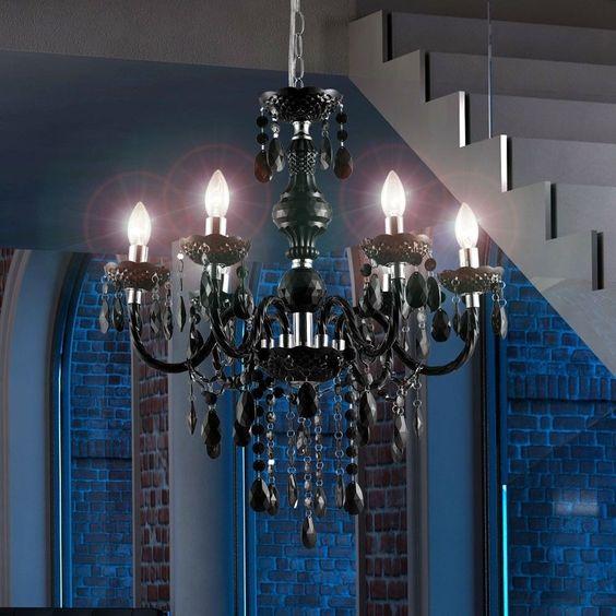 Kronleuchter decken pendel lampe luster beleuchtung gästezimmer ...