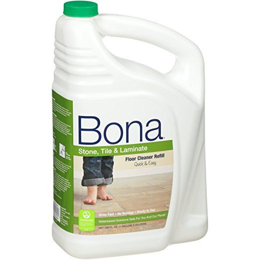 Bona Stone Tile Laminate Floor Cleaner Refill 128oz Pack May Vary How To Clean Laminate Flooring Best Laminate Floor Cleaner Floor Cleaner