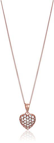 """Sterling Silver Swarovski Zirconia Pave Heart Pendant Necklace, 18"""" -- See this great image @ http://www.amazon.com/gp/product/B00HFMGM08/?tag=ilikeboutique09-20&kl=020816021521"""