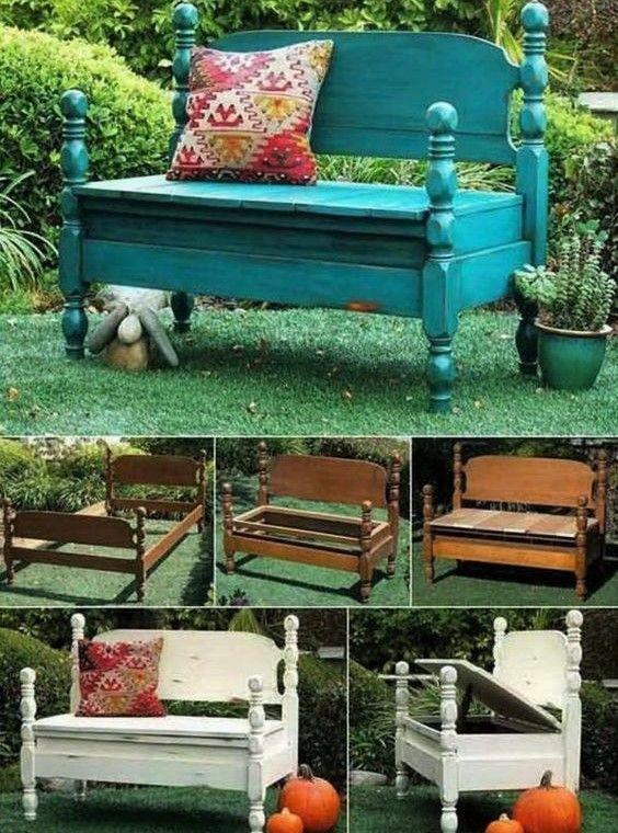 De jolis bancs en bois, faits maison pour le jardin ! | FLTM ...