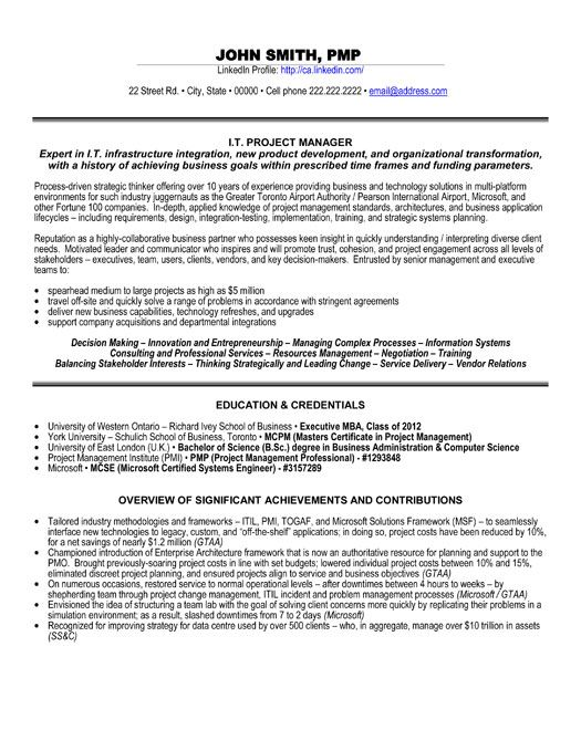 Click Here to Download this IT Project Manager Resume Template - software project manager resume