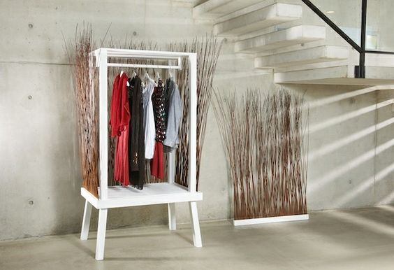 moebel wardrobe white gray Ancona hallway furniture ideas