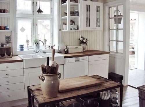 White kitchen - white appliences - likie!