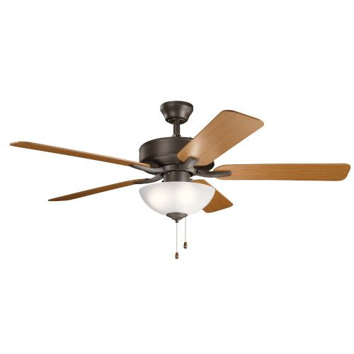 Kichler Basics Pro Select Satin Natural Bronze 52 Inch Ceiling Fan