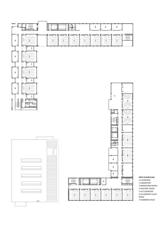Gallery Of School With An Open Space Beijing Institute Of Architectural Design 6th Division 34 School Building Design Architecture Design School Floor Plan