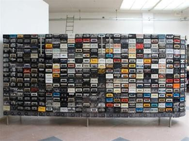 A wall of cassette tapes!
