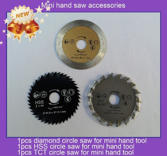 Worldwide free freight - 3pcs circle saw for mini hand saw electrical tools export to russia at good price and fast delivery