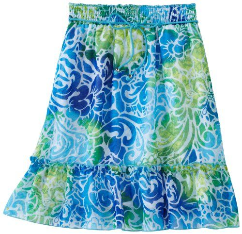 Amy Byer Girls 7-16 Print Chiffon Bottom Ruffle Skirt, Blue, Small. From #Amy Byer. List Price: $36.00. Price: $25.20