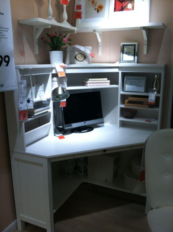 Pinterest the world s catalog of ideas - Ikea corner office desk ...