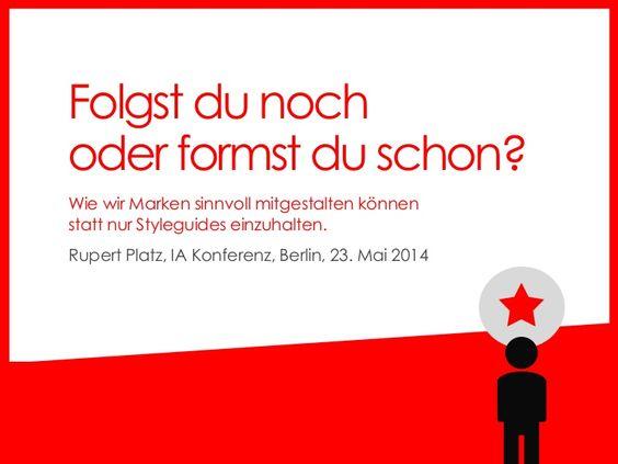 How to express brand values in a digital interactional manner GERMAN:   http://2014.iakonferenz.org/sprecher#6 +++ Wie wir Marken sinnvoll mitgestalten können statt nur Styleguides einzuhalten (IA Konferenz, B…